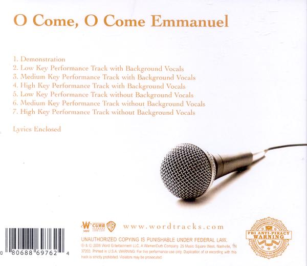 O Come, O Come, Emmanuel, Accompaniment CD