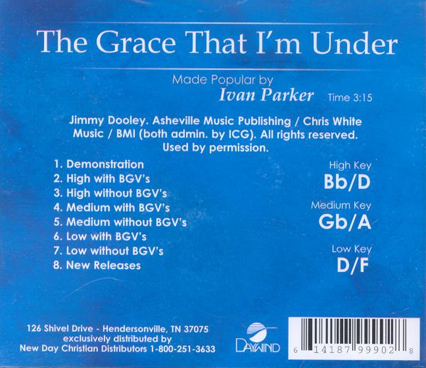 The Grace That I'm Under, Accompaniment CD
