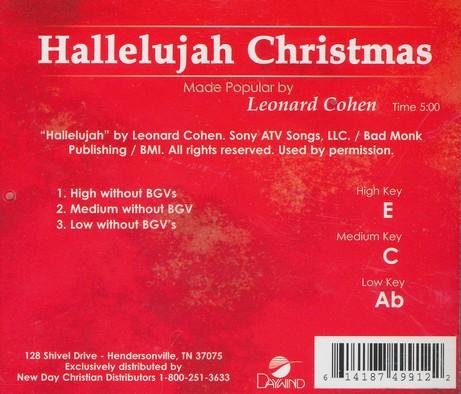 hallelujah christmas leonard cohen christianbookcom - Hallelujah Christmas Version