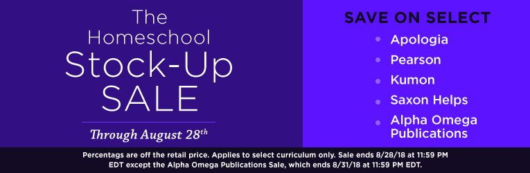 Homeschool Stock-Up Sale