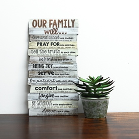 Family Stacked Plaque
