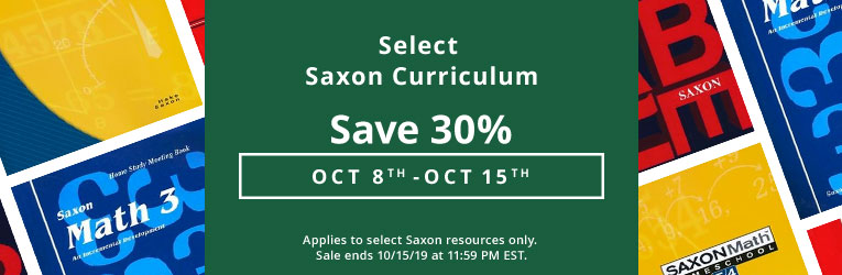 Saxon Math Sale