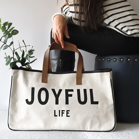 Fashion Tote- Joyful Life