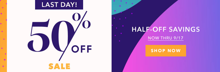 Last Day 50% off Sale