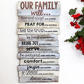 Our Family Wall Plaque
