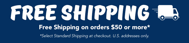 Free Shipping Orders $50 and Above