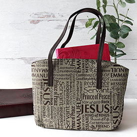 Purse Style Bible Cover Names of Jesus