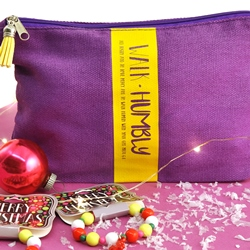 Walk Humbly...Purple Zip Bag