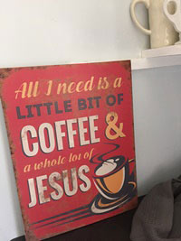 Coffee Bar Metal Sign