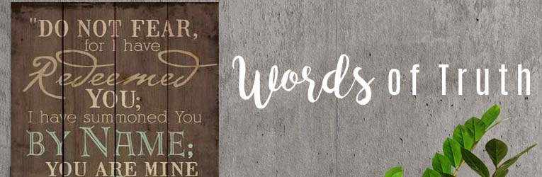 Rustic Scripture Wall Signs Words Of Truth