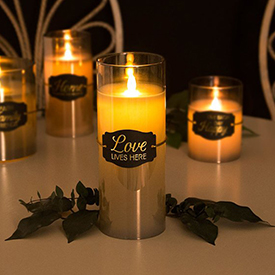 Realistic Flame Amber Candle Collection