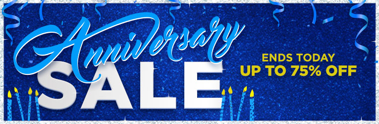 Anniversary Sale- Ends Today