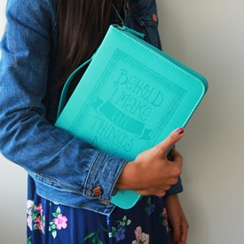 Teal Scripture Bible Cover