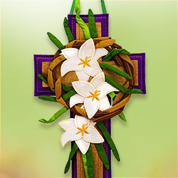 Easter Cross Wall or Door Decor