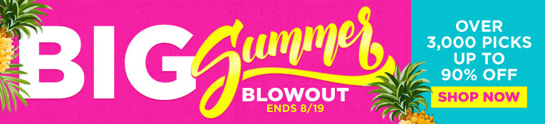Big Summer Blowout- Up to 90% Off- ends 8/19