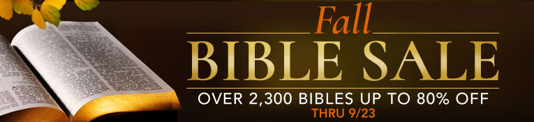 Fall Bible Sale- up to 80% Off