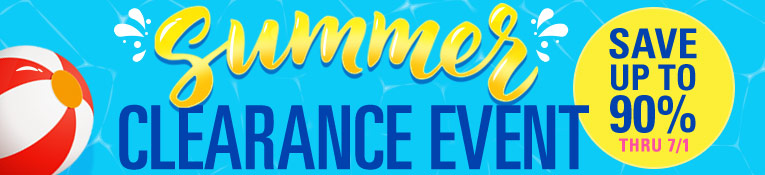 Summer Clearance Event- up to 90% Off