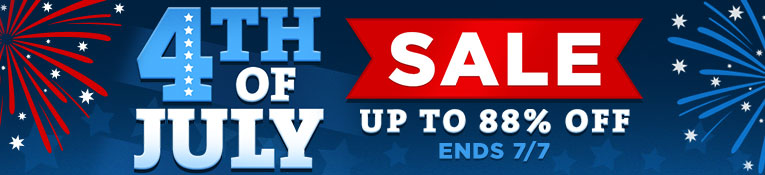 4th of July Sale- up to 88% off