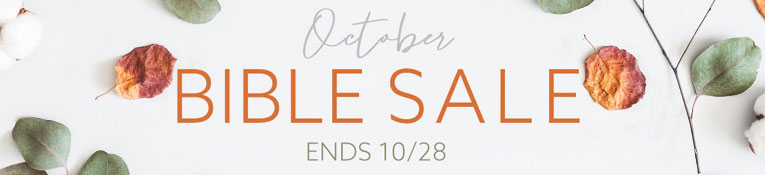 October Bible Sale- thru 10/28