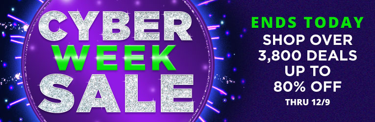 Cyber Week Sale- Ends Today