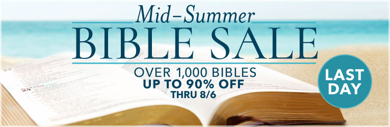 Bible Sale- Last Day
