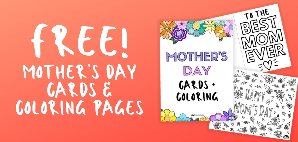 Mother's Day Cards and Coloring Pages