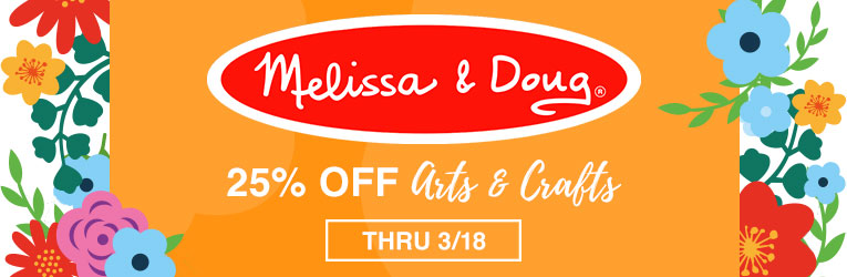 25% off Melissa & Doug Arts & Crafts