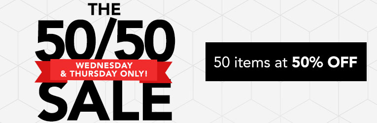 50 Items at 50% Off
