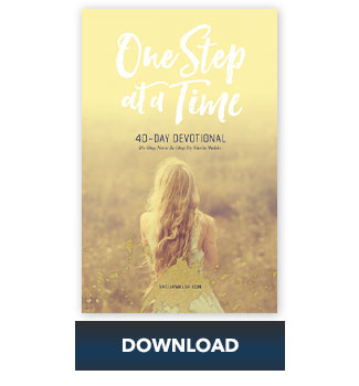 One Step at a Time Devotional by Sheila Walsh