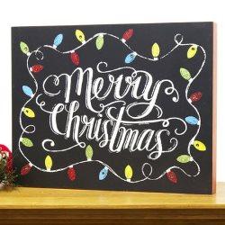 Christmas Wall Art. Love Christmas Bark Sign · LED Light Up Box ...