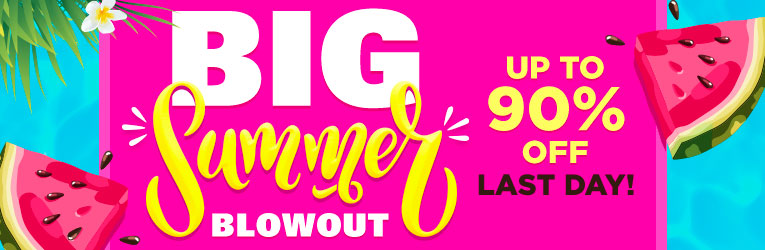 The Big Summer Blowout- LAST DAY!