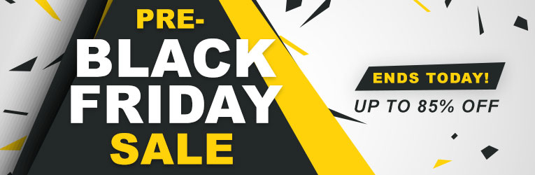 Pre-Black Friday Sale - Ends Today!