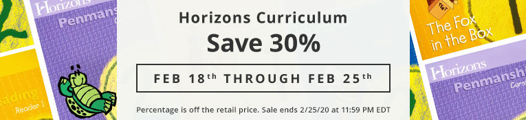Horizons 30% off Sale