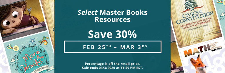Master Books 30% Sale