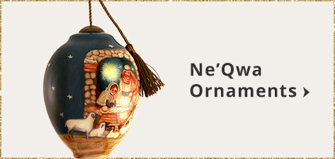 Ne'Qwa Ornaments Handpainted