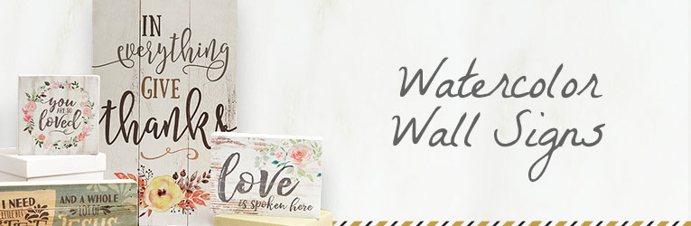 Watercolor Wall Signs and More