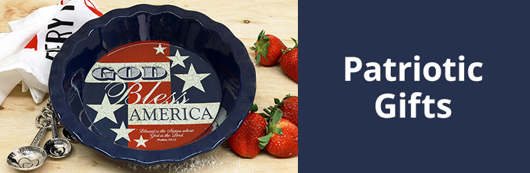 Patriotic Christian Gifts. God Bless America Pie Plate ...