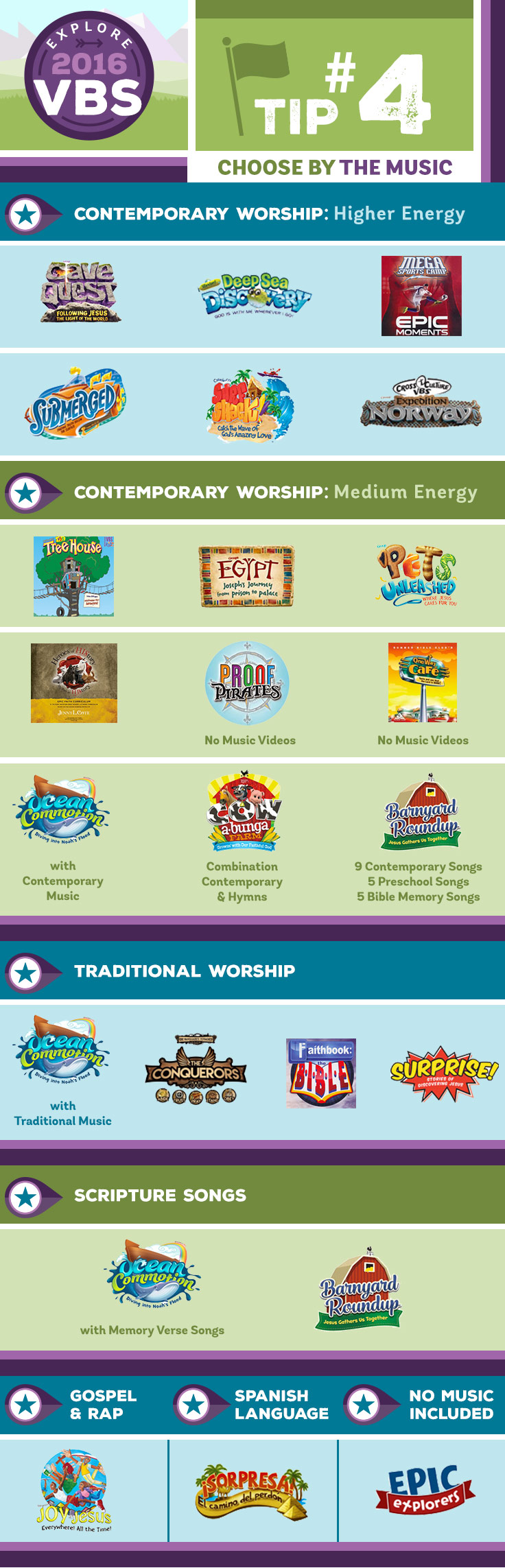 VBS Tip #4: Choose by Music
