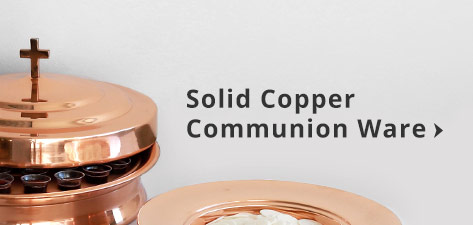 Solid Copper Communion ware