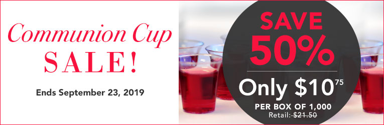 Communion Supplies | Cups, Bread, Plates & Trays