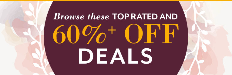 Top Rated % 60%+ Off Deals