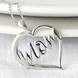 Sterling Mom Heart