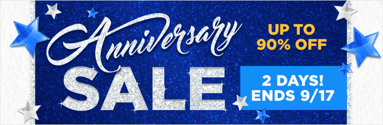 Anniversary Sale:Ends 9/17