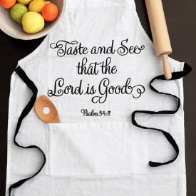 Apron with Scripture