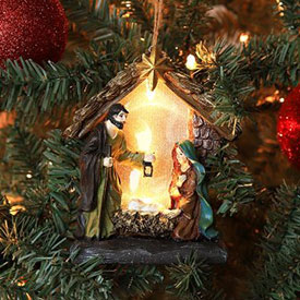 Nativity Figure LED Ornament
