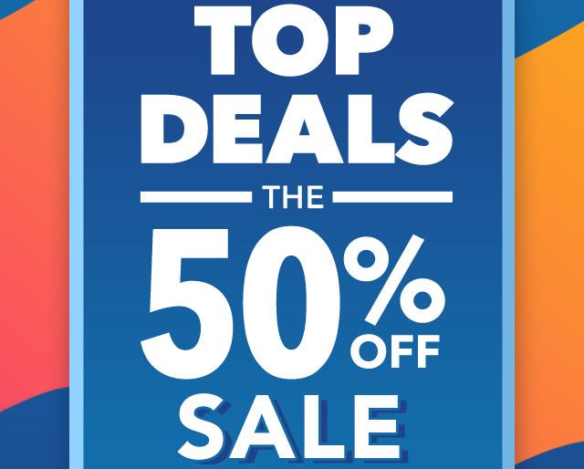 Top Deals 50% Off Sale