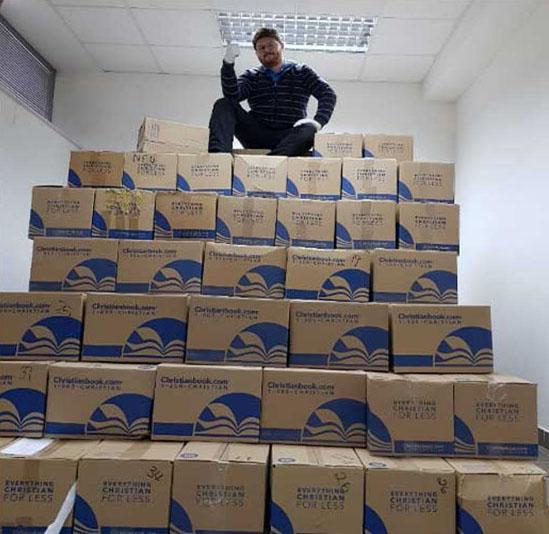 Shipment to seminary in Croatia